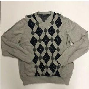 Tommy Hilfiger Mens Vneck Sweater Size Large Gray
